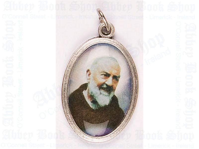 Medal – Oxidised/Saint Pio Picture