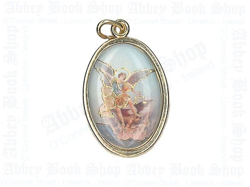 Saint Michael Medal/Gold Finish