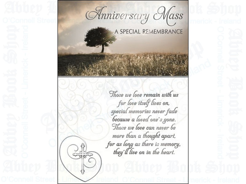 Anniversary Mass Card with Insert