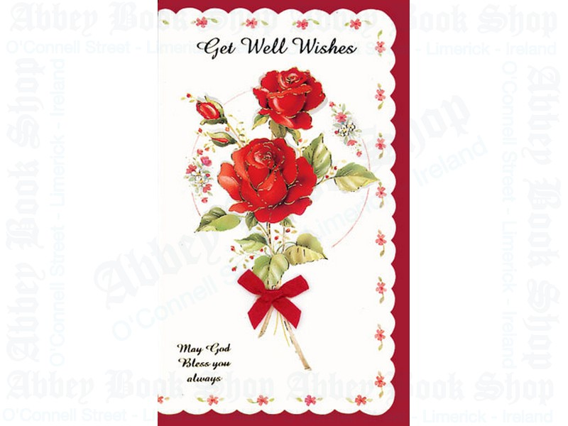 Get Well Wishes Card With Bow