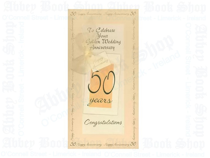 50th Wedding Anniversary Card With Tag