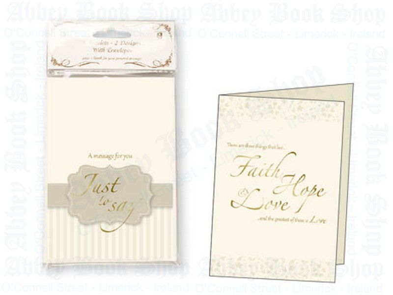 Just to Say Card Notes/2 Designs/Parchment