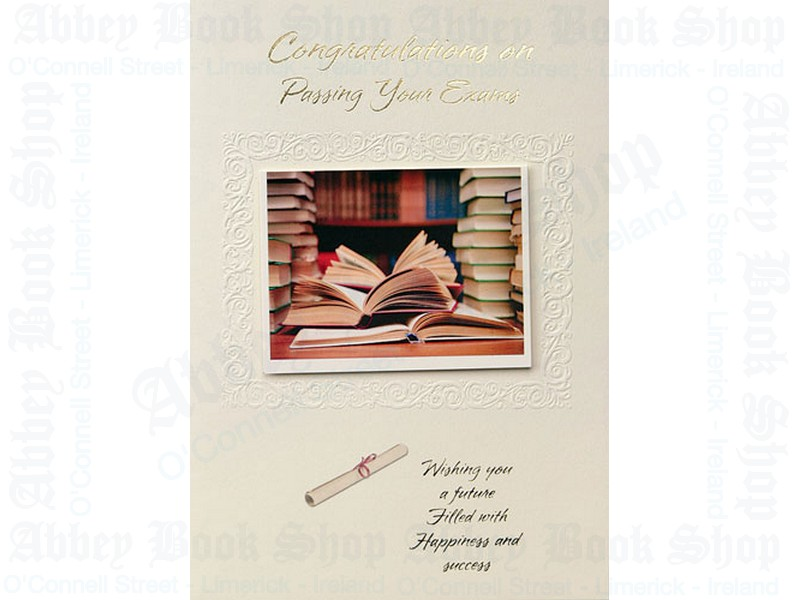 Congratulations On Passing Exams Card