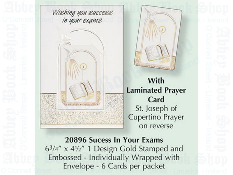 Exam Success Card with Leaflet