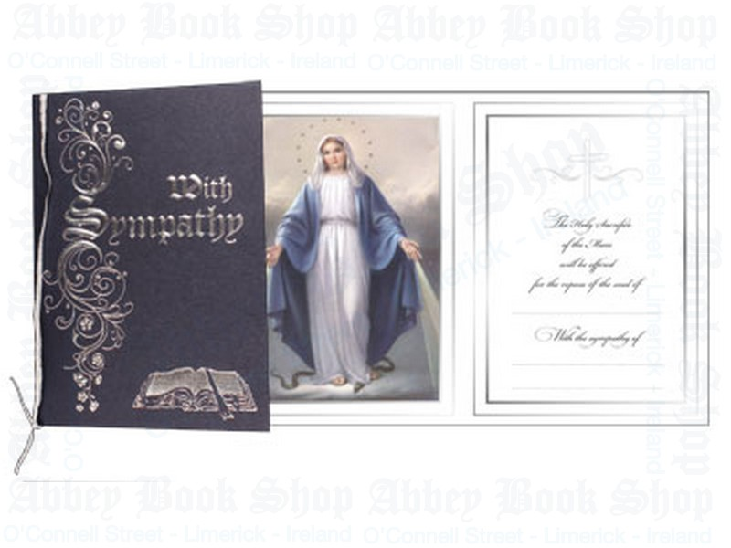 Mass Card/Blue Cover With Ribbon/Pkd 6's