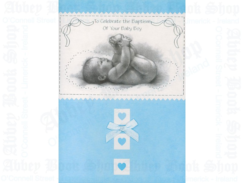 Baptism Card Of Your Baby Boy