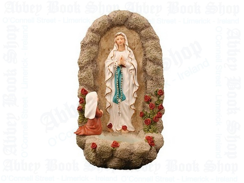 Resin Lourdes Holy Water Font (6″)
