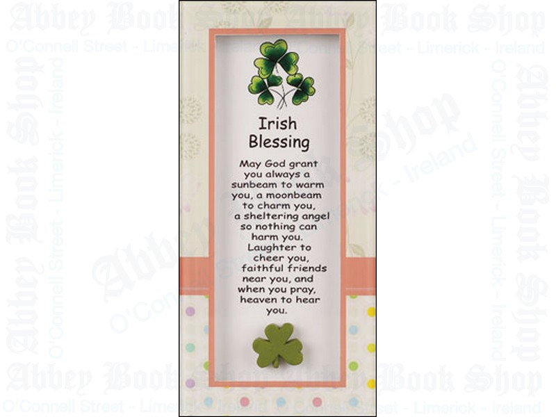 Glass Plaque – Irish Blessing/Motif