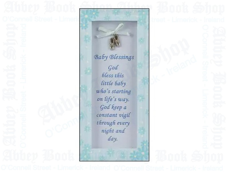 Baby Blessings Glass Plaque – Boy