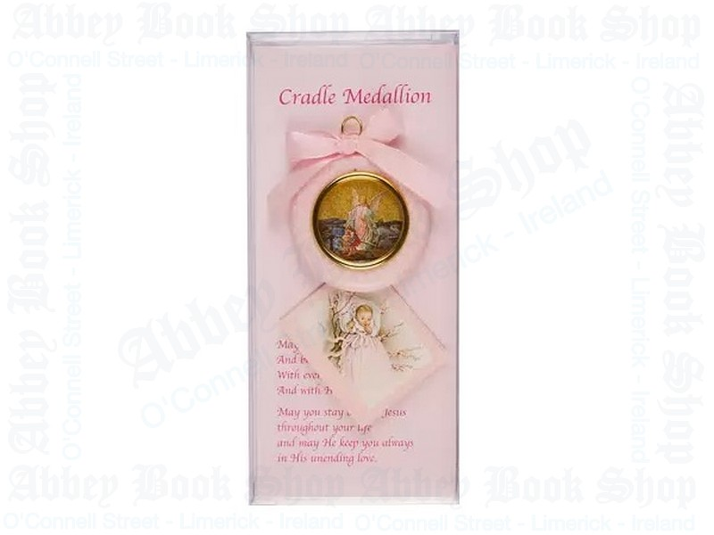 Baby Cradle Set – Girl/Medallion & Card