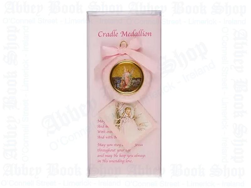 Baby Cradle Set – Girl/Medallion & Card