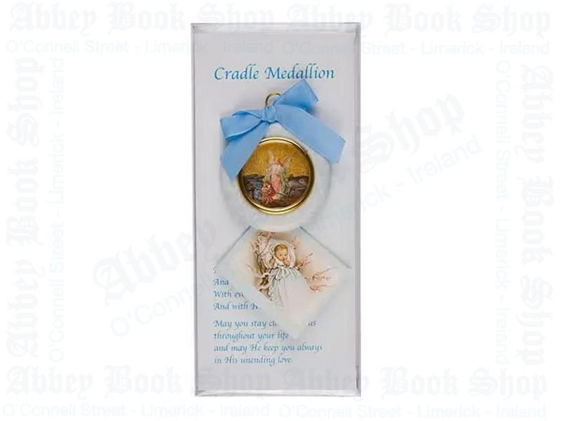Baby Cradle Set – Boy/Medallion & Card