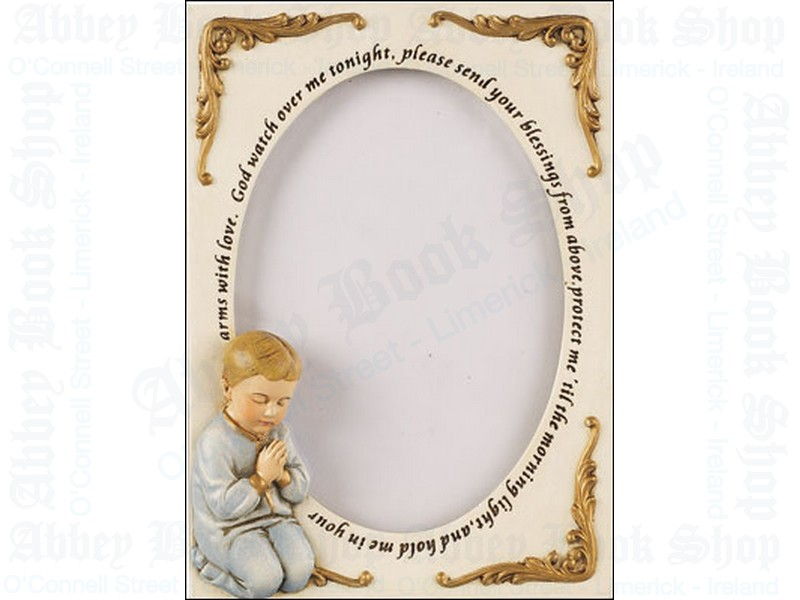 Photo Frame 6″ – Praying Boy (Resin)