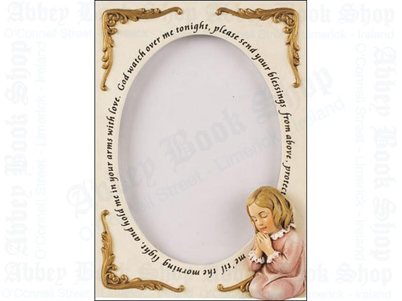 Photo Frame 6″ – Praying Girl (Resin)