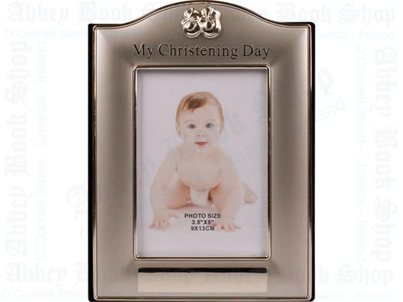 Christening Photo Frame/Album/Silver Finish