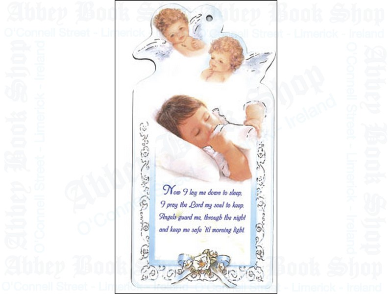 Wood Plaque/Baby Boy with Prayer