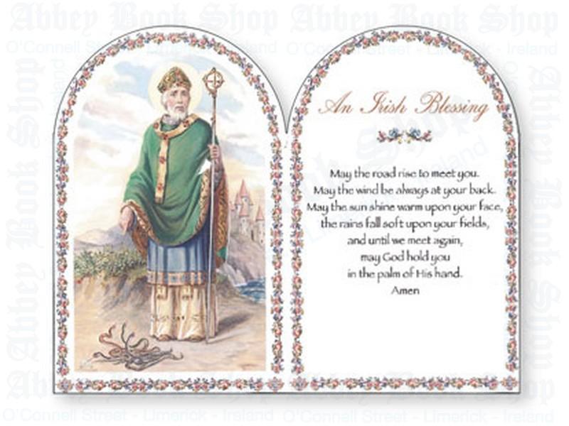Wood Plaque/Saint Patrick/Irish Blessing