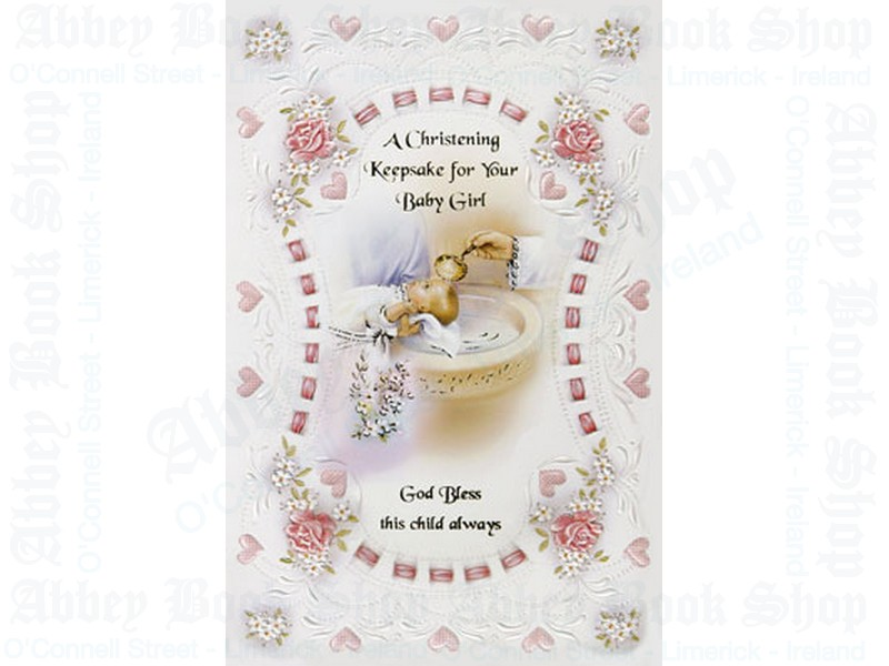 Baby Keepsake Booklet – Girl/Christening