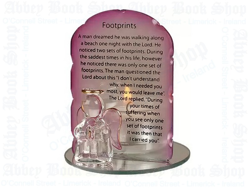 Glass Angel Candle Holder – Footprints