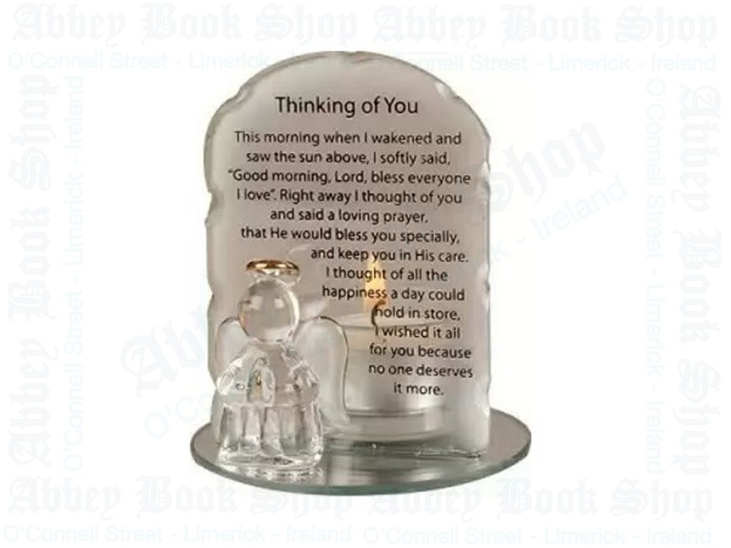 Glass Angel Candle Holder – Thinking of You