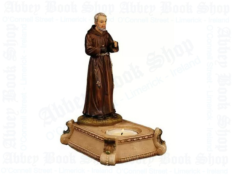 Saint Pio Candle Holder