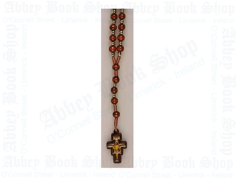 Wood Rosary Beads – Brown Corded