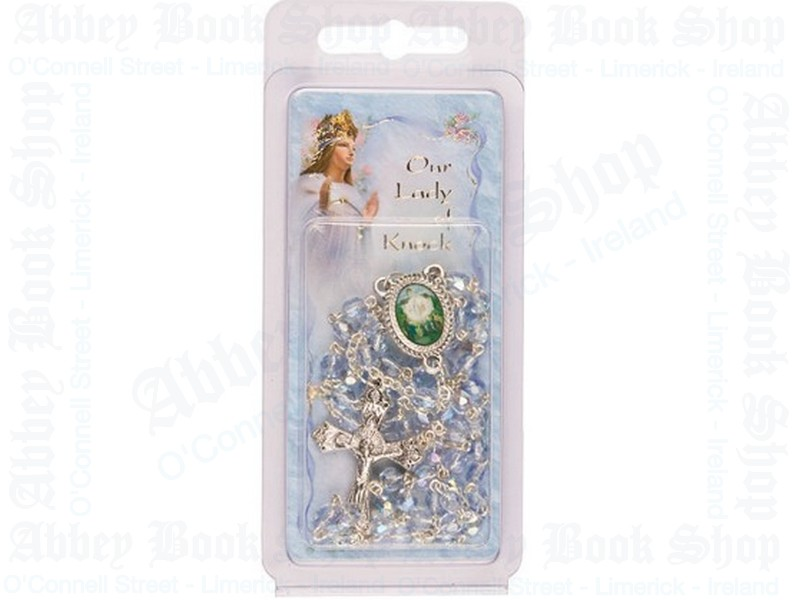 Our lady of Knock Rosary Beads – Glass/Prayer Card