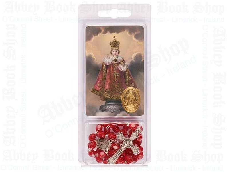Child of Prague Rosary Beads – Leaflet Set