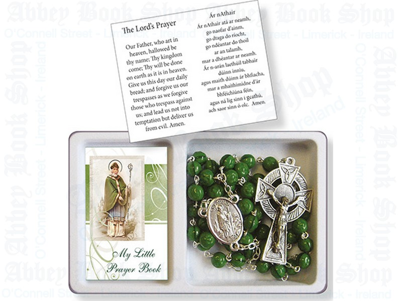 Saint Patrick Rosary Beads – Glass/Booklet Set