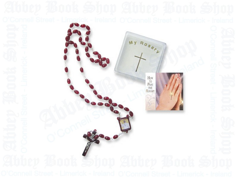 Pope Francis Rosary Beads – Ruby Acrylic
