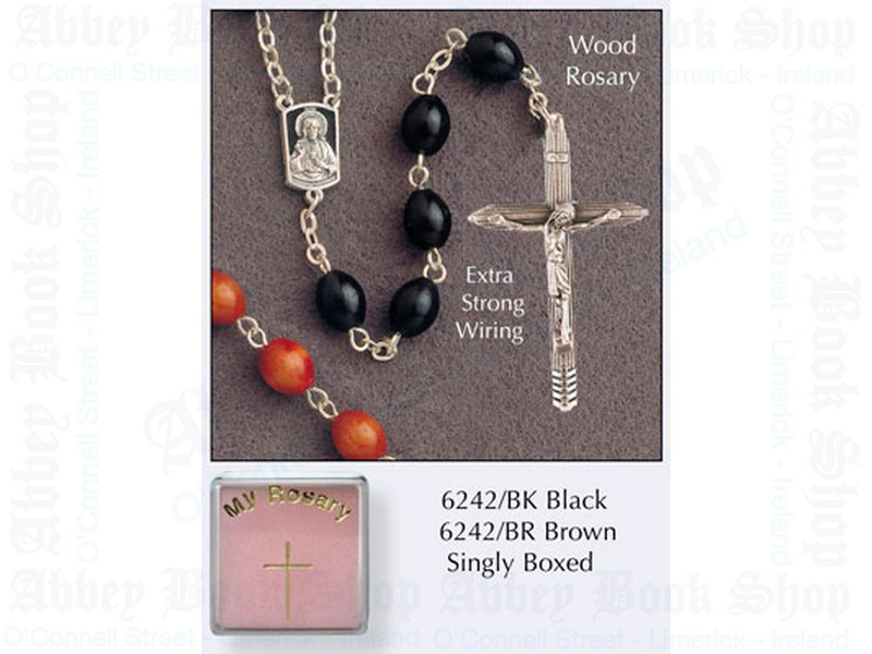 My Rosary Beads – Black Wood (Extra Strong Chain)