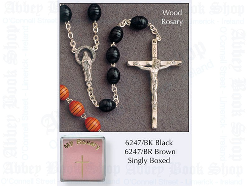 My Rosary Beads – Brown Wood
