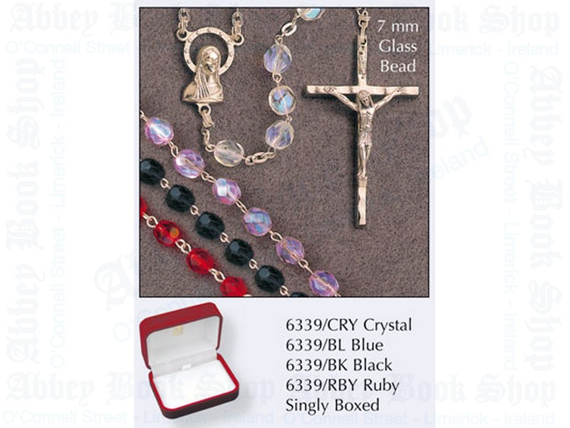 Glass Rosary Beads – Crystal