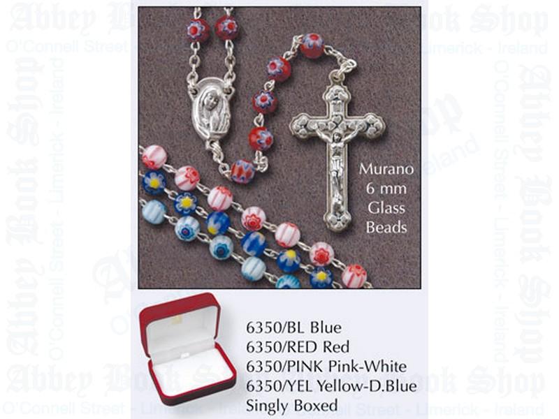 Murano Glass Rosary Beads – Light Blue