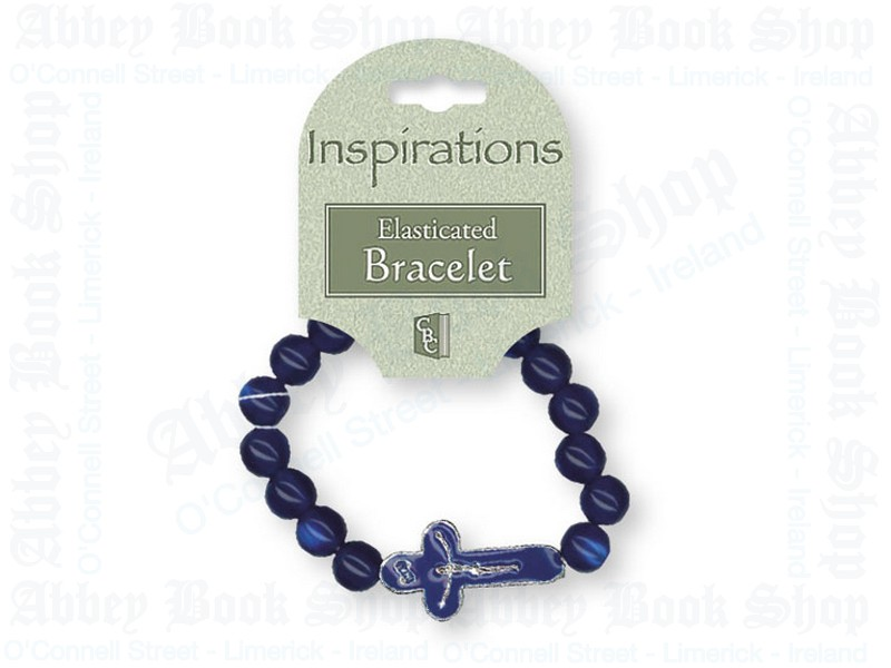 Bracelet – Blue with Crucifix