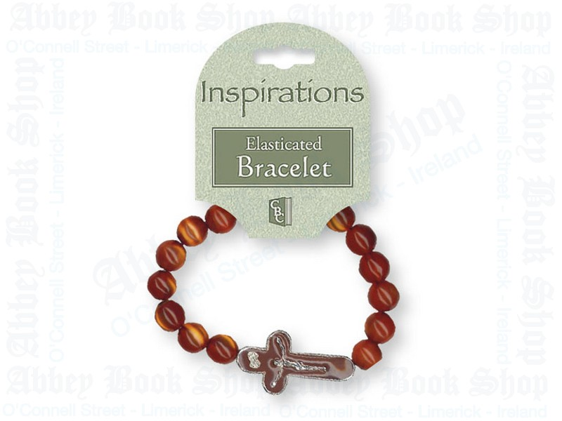Bracelet – Brown with Crucifix