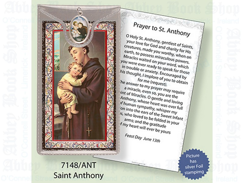 Picture Medal & Foil Leaflet/Saint Anthony