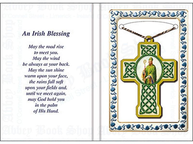 Prayer Leaflet with Cross – Irish Blessing