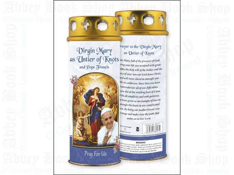 Virgin Mary as Untier of Knots Candle – Windproof Cap