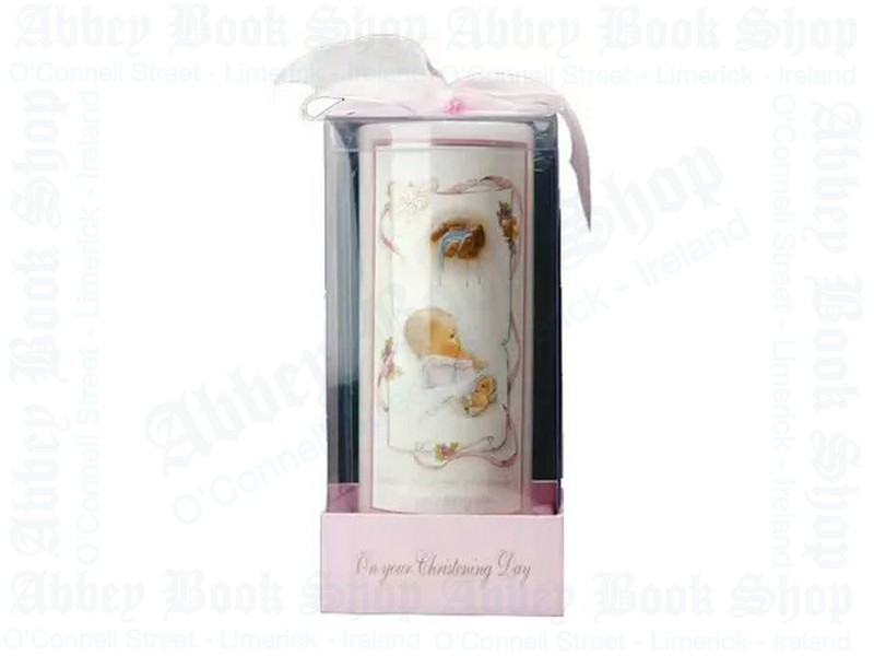 Christening Candle/Girl/6″ Gift Boxed