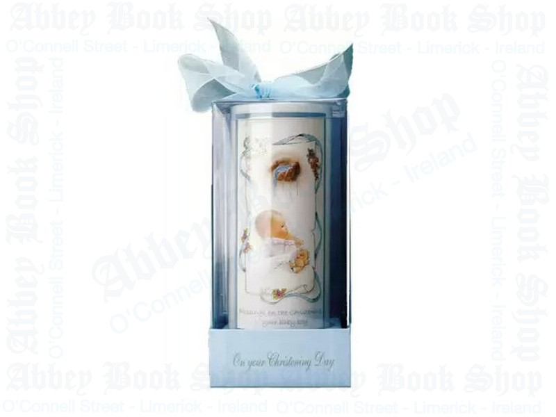 Christening Candle/Boy/6″ Gift Boxed