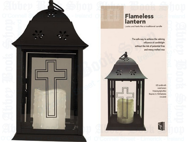 Grave Lantern 12 3/4″ With Led Candle