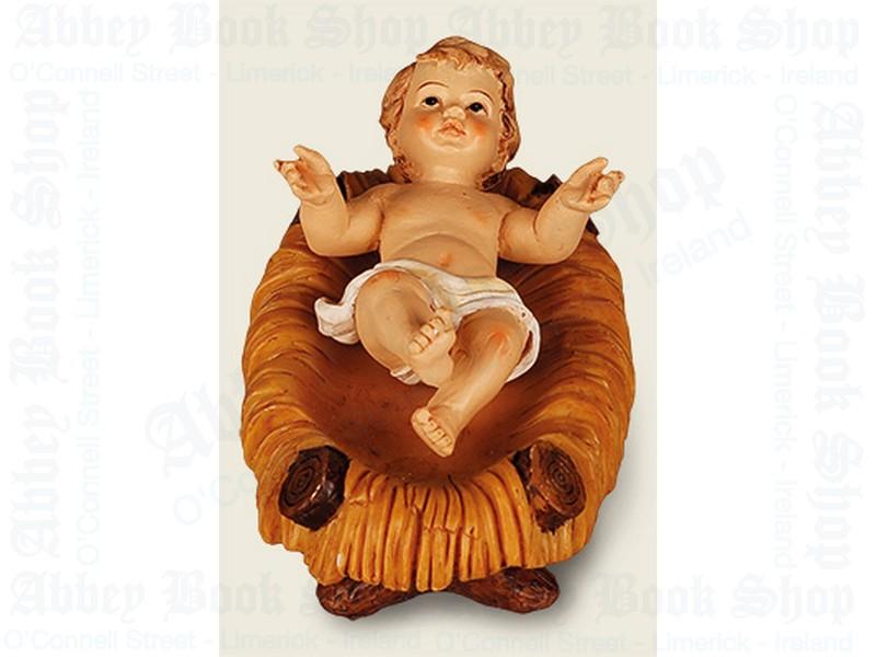 "Nativity Baby Jesus & Manger 3 "" (Resin)"