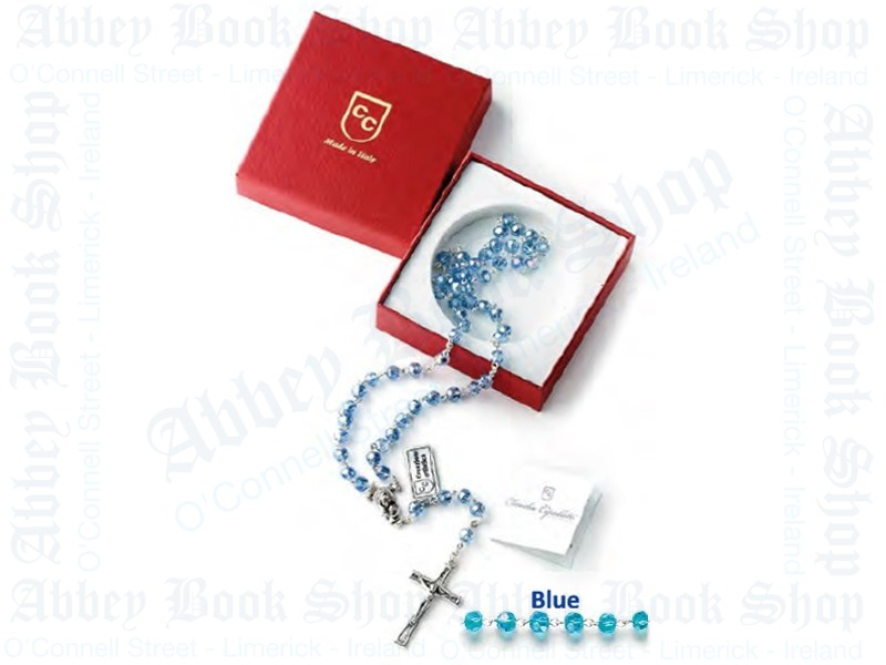 Blue Crystal Rosary Beads (Gift Boxed)