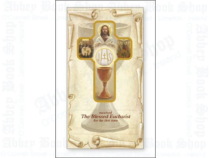 Communion Cross on Card/Certificate