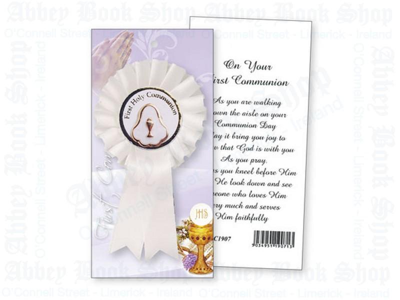 Communion Rosette – Pearl Medal
