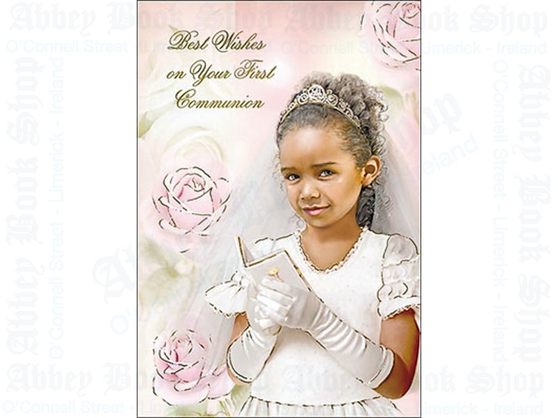 Communion Card/Praying Girl