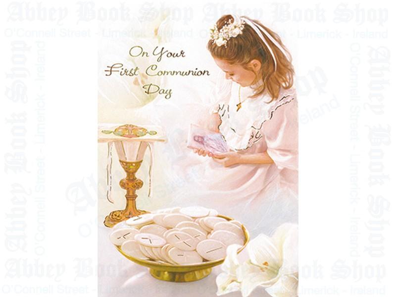 Communion Card/Girl