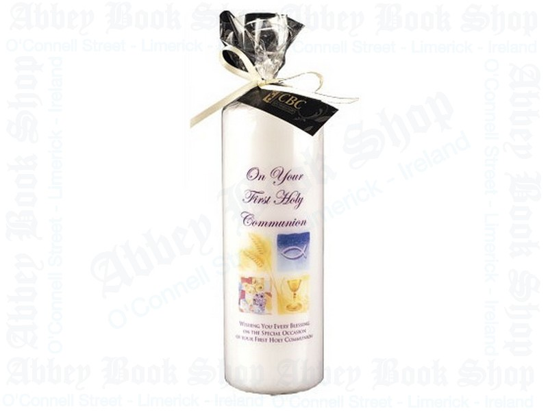 Communion Candle 8″ Gift Wrapped