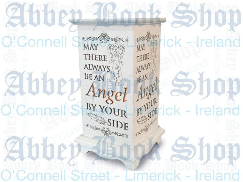 Wood Lantern Candle – Angel By your Side